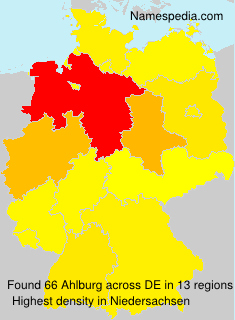 Surname Ahlburg in Germany