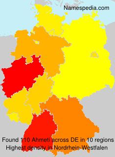 Surname Ahmeti in Germany
