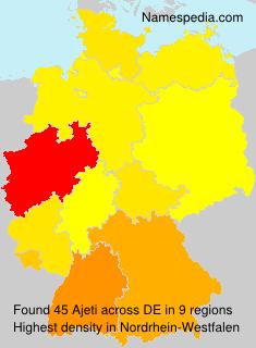 Familiennamen Ajeti - Germany