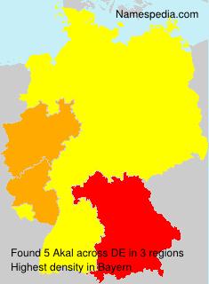 Familiennamen Akal - Germany