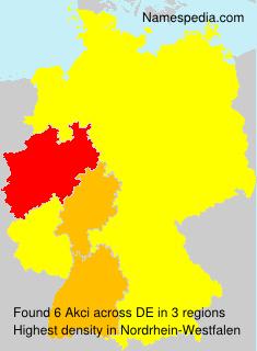 Familiennamen Akci - Germany