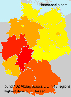 Surname Akdag in Germany