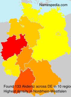 Surname Akdeniz in Germany