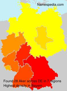 Familiennamen Aker - Germany