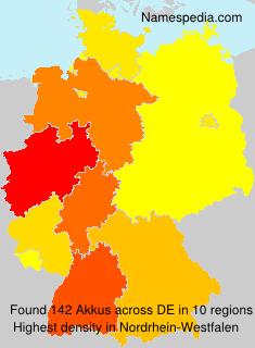 Surname Akkus in Germany