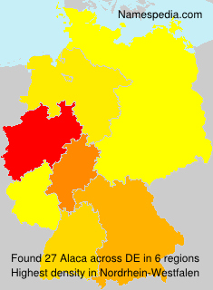 Surname Alaca in Germany