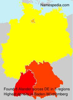 Surname Alander in Germany