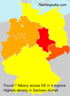 Surname Albany in Germany