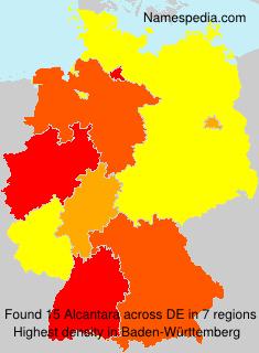 Surname Alcantara in Germany