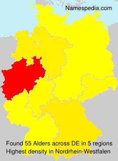 Familiennamen Alders - Germany
