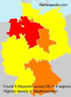 Surname Alejandro in Germany