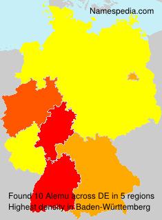 Surname Alemu in Germany