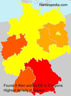 Surname Alen in Germany