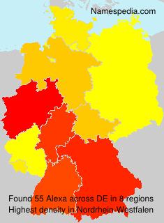Surname Alexa in Germany