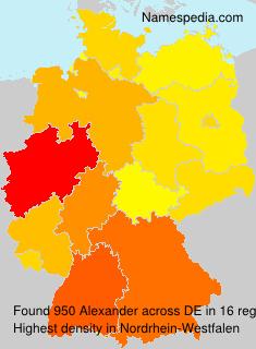 Surname Alexander in Germany