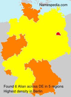 Surname Alian in Germany
