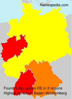 Surname Aloi in Germany