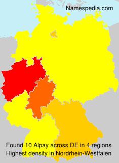 Familiennamen Alpay - Germany