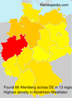 Surname Altenberg in Germany