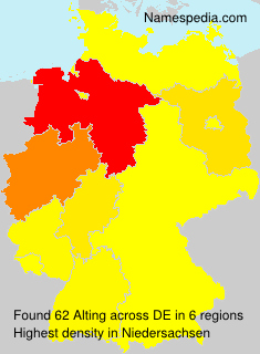 Surname Alting in Germany