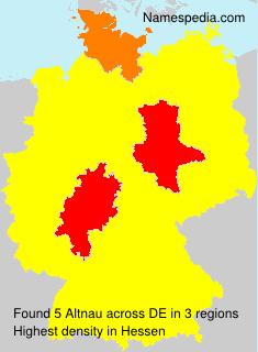 Surname Altnau in Germany