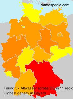 Familiennamen Altwasser - Germany