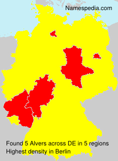 Surname Alvers in Germany