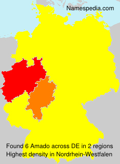 Surname Amado in Germany