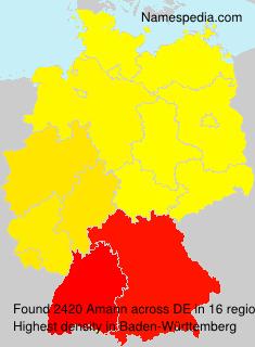 Familiennamen Amann - Germany