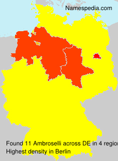 Surname Ambroselli in Germany