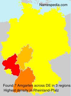 Familiennamen Amgarten - Germany