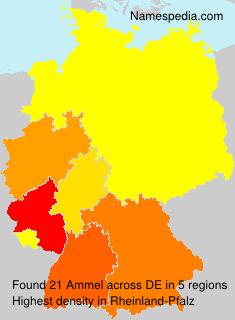 Familiennamen Ammel - Germany