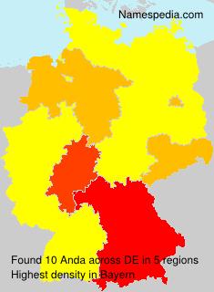 Surname Anda in Germany
