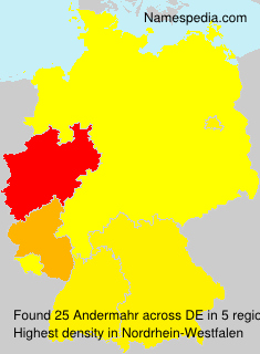 Surname Andermahr in Germany