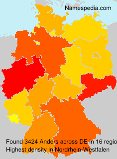 Surname Anders in Germany