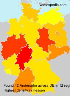 Surname Andersohn in Germany