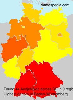 Surname Andjelkovic in Germany