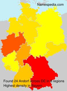 Familiennamen Andorf - Germany