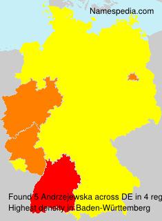 Surname Andrzejewska in Germany