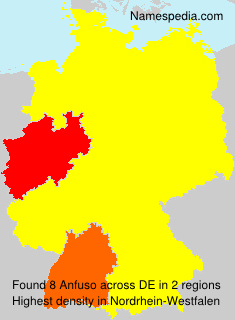 Surname Anfuso in Germany