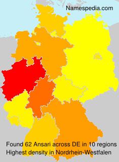 Familiennamen Ansari - Germany