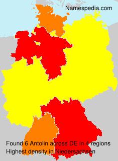 Familiennamen Antolin - Germany