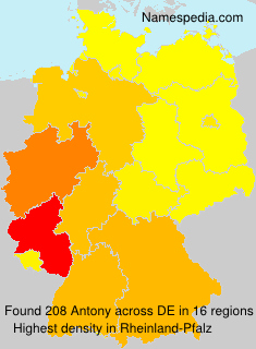 Surname Antony in Germany