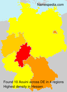 Surname Aouini in Germany