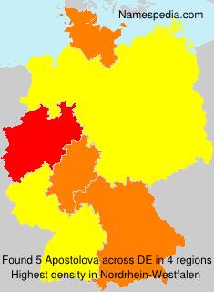 Surname Apostolova in Germany