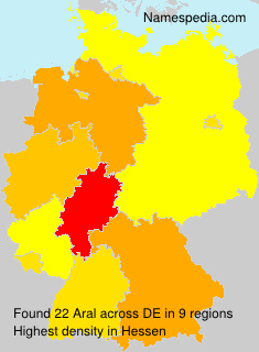 Surname Aral in Germany