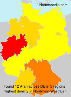 Surname Aran in Germany