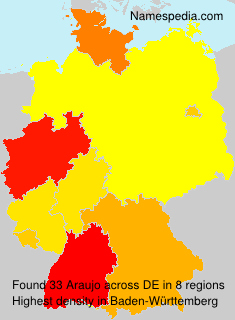Familiennamen Araujo - Germany