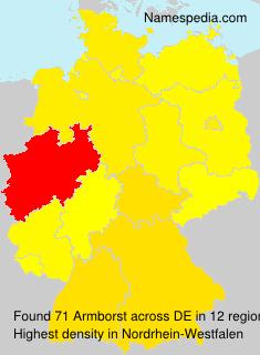 Familiennamen Armborst - Germany