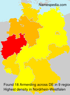 Familiennamen Armerding - Germany